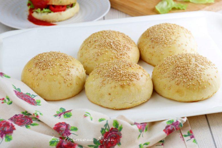 Panini per burger senza burro e uova