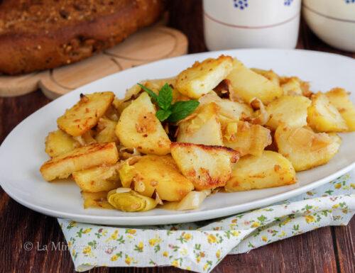 Patate e porri al forno