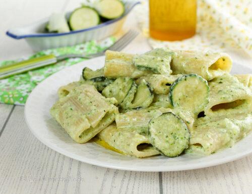 Paccheri con zucchine e robiola