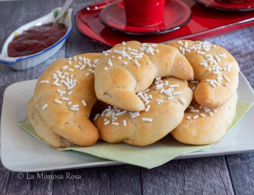 Cornetti di pan brioche all'olio di oliva