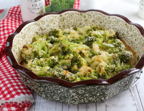Broccoli gratinati senza besciamella