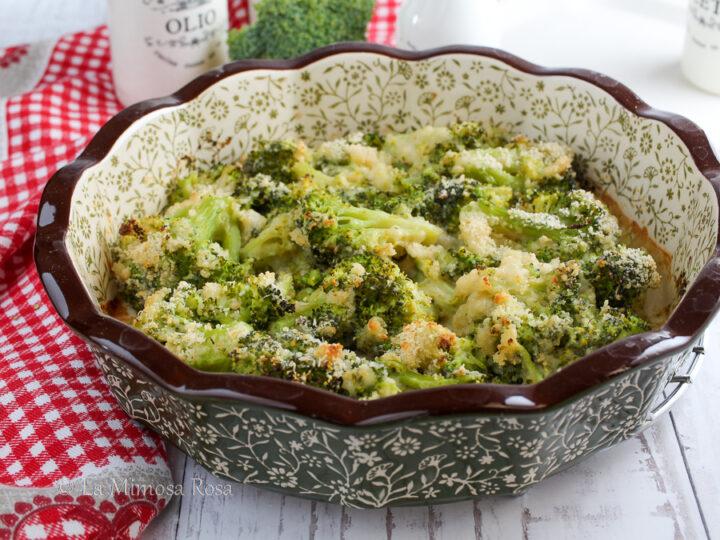 Broccoli gratinati senza besciamell