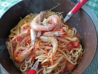 spaghetti alle mazzancolle e moscardini