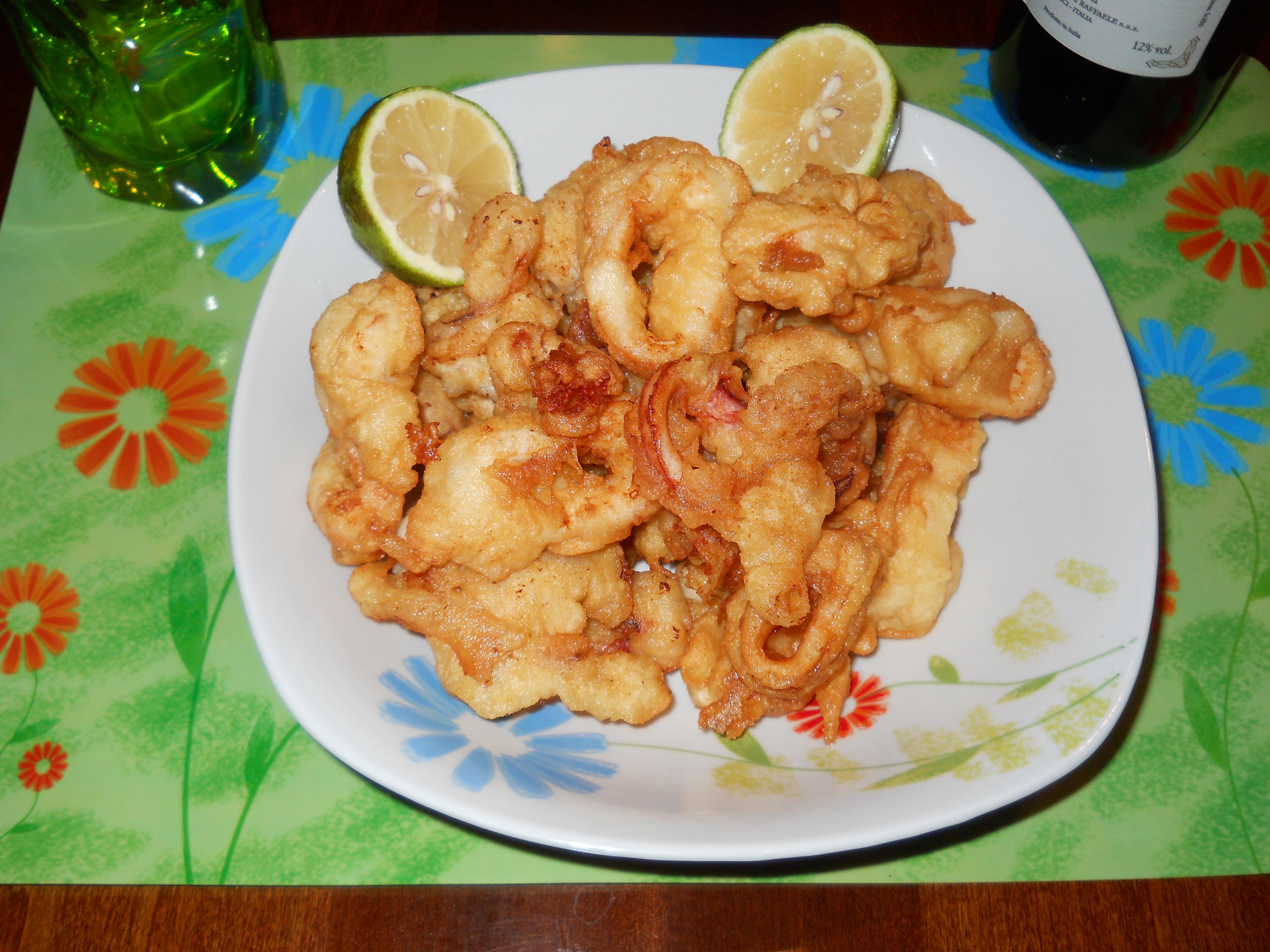 i miei calamari fritti