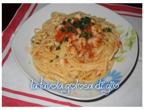 linguine ai gamberetti e pomodoro fresco