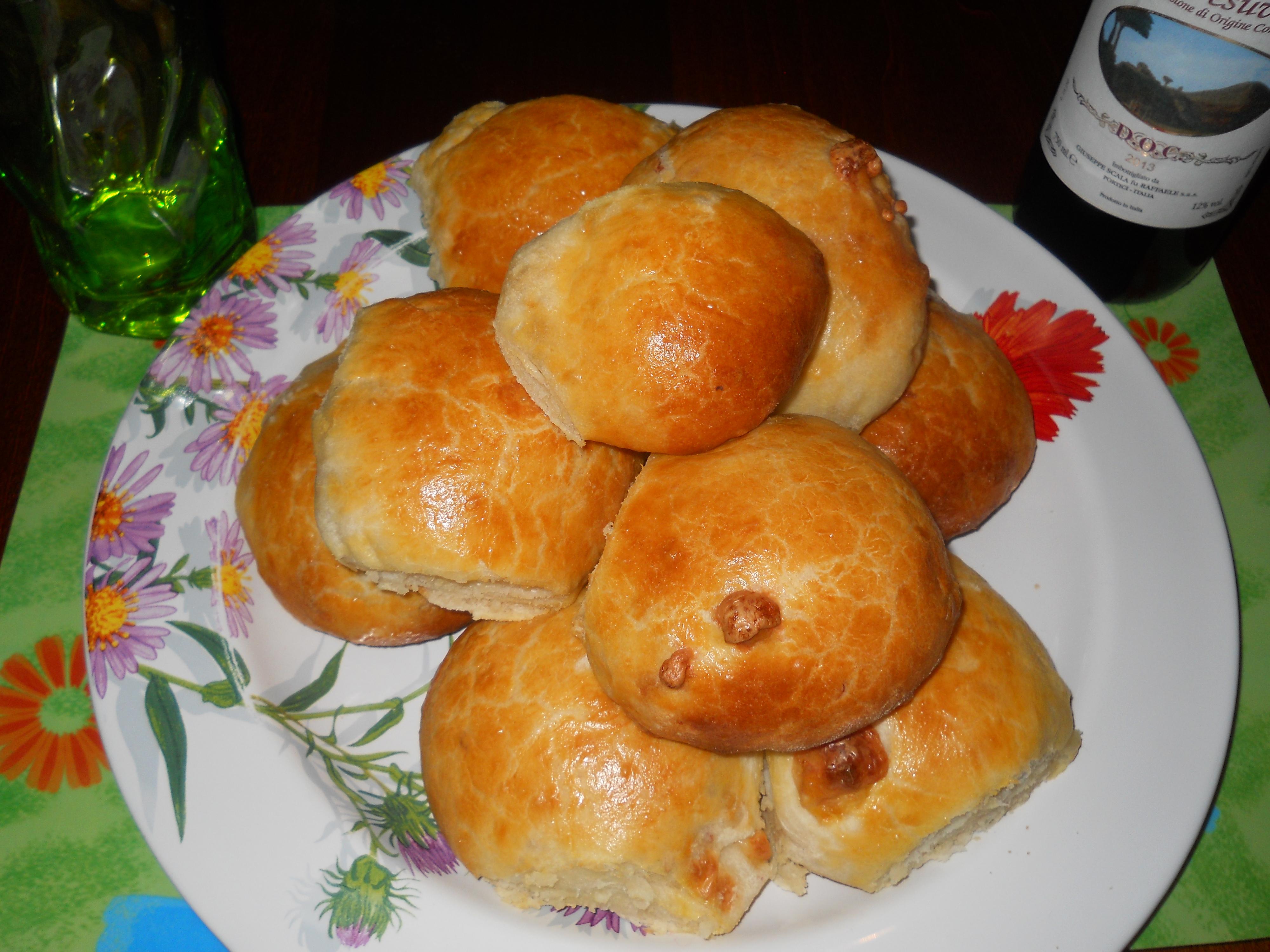 i miei panini di patate con speck e provola