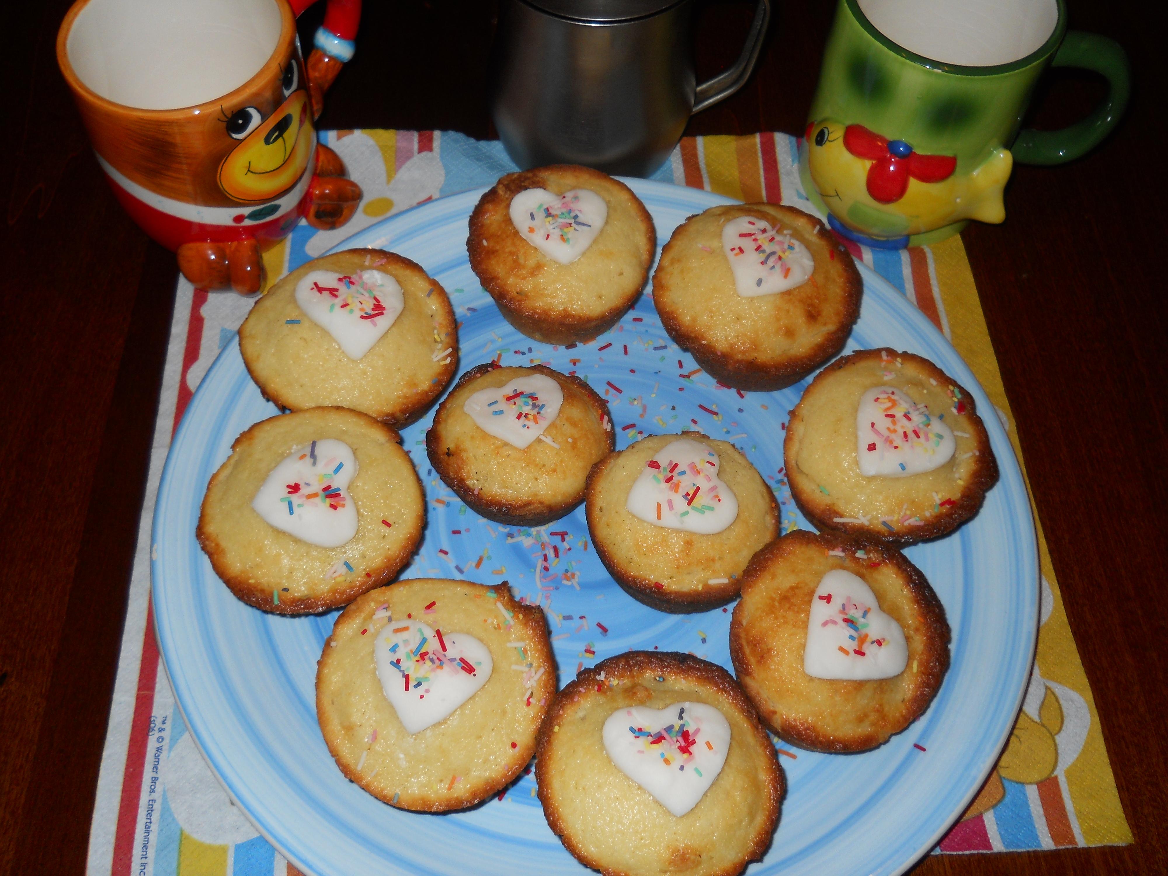 i miei muffin di  ricotta al cuore di nutella