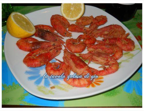 gamberi marinati e fritti una vera bontà