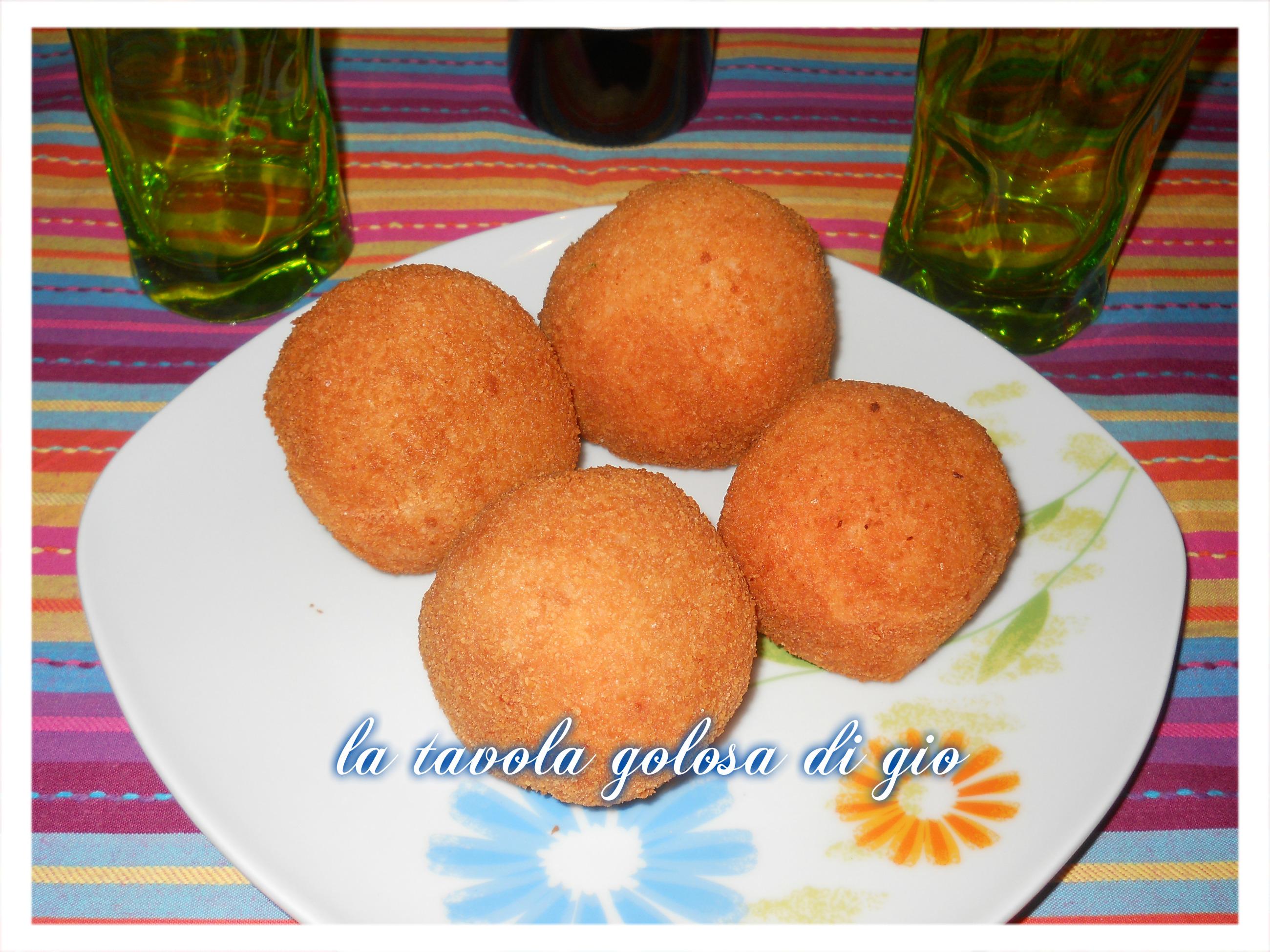 le palle di riso alla napoletana