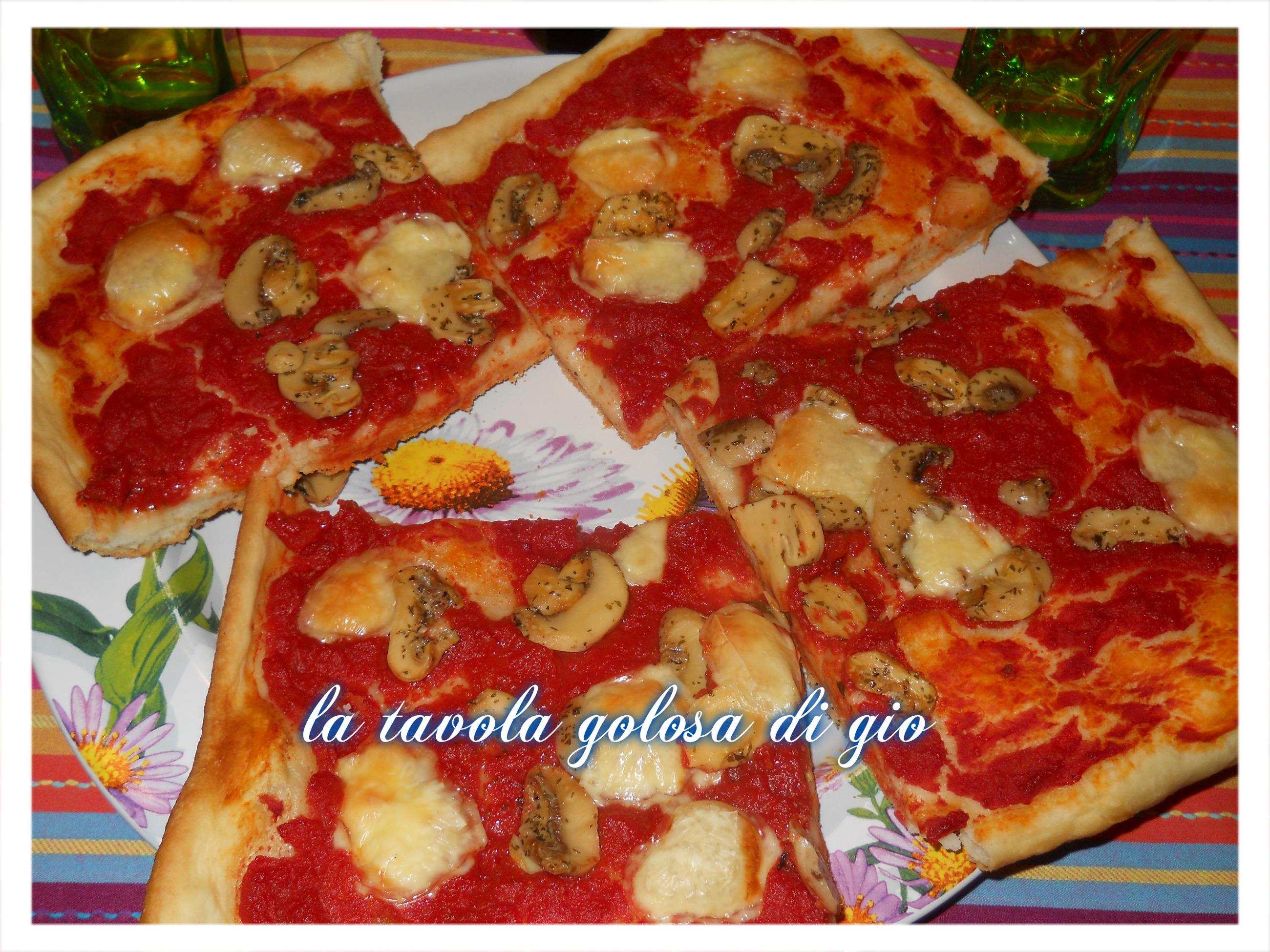 pizza con impasto super morbido