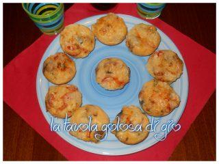 Muffin di Melanzane e Ciliegini e Provola