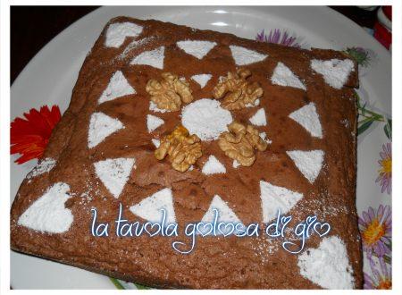 torta di noci e cioccolato fondente