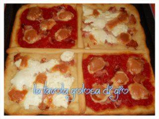 Pizza con Impasto alla Ricotta Farcita