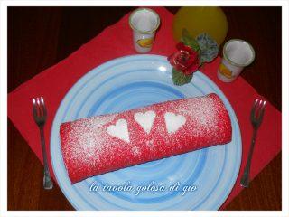 Rotolo di Red Velvet Farcito di Crema