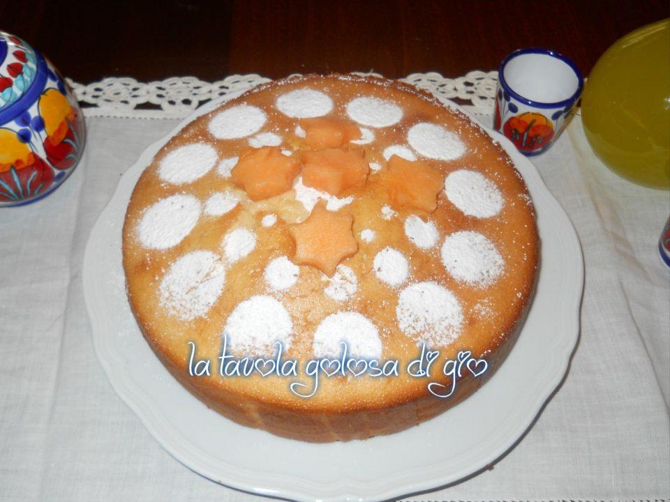 Torta con cantalupo senza burro