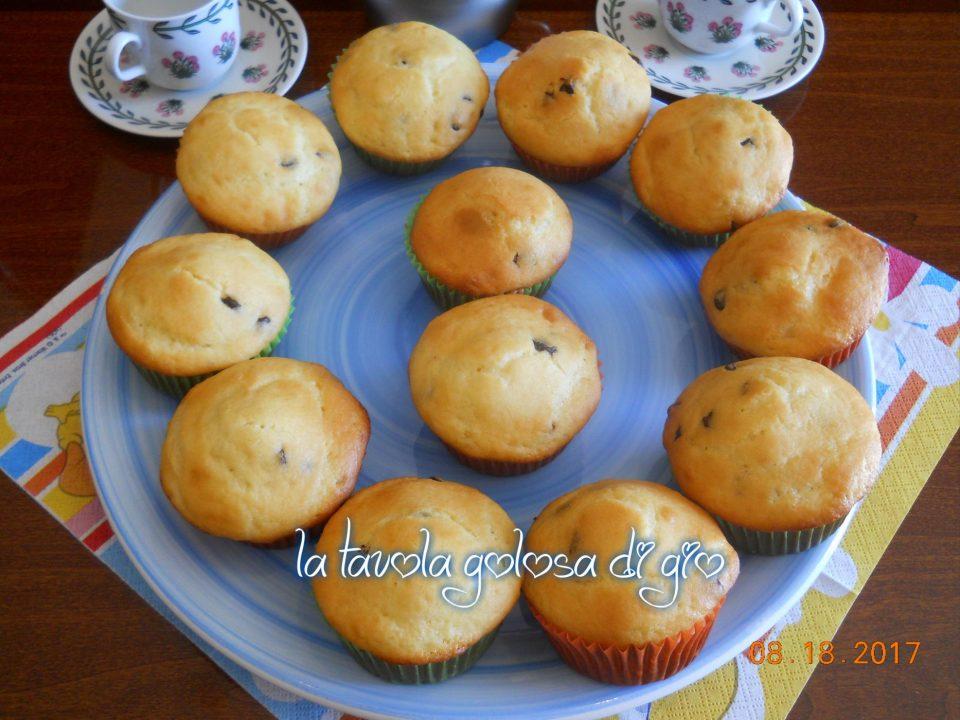 Muffin allo Yogurt con Gocce di Cioccolato
