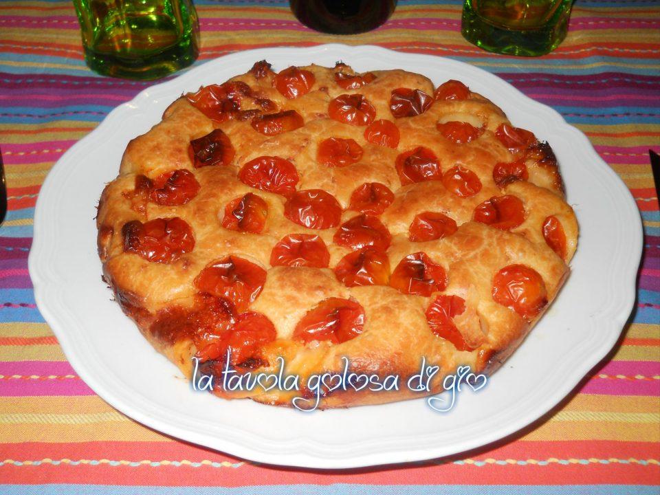Torta Rustica allo Yogurt con Pomodorini
