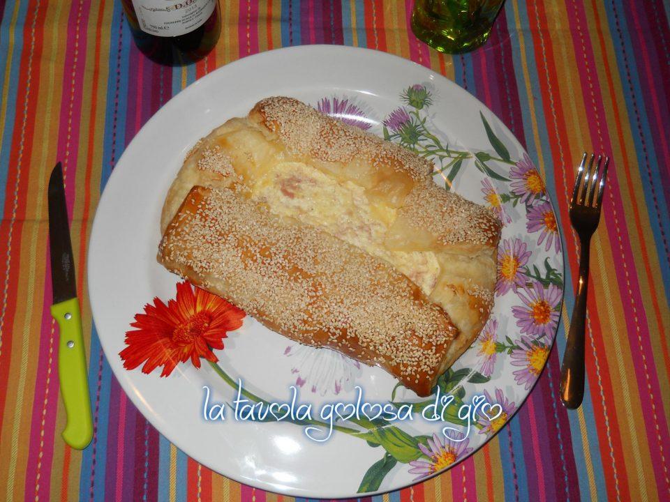 Torta rustica con ricotta e prosciutto
