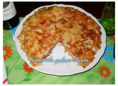 Torta salata di pane senza forno