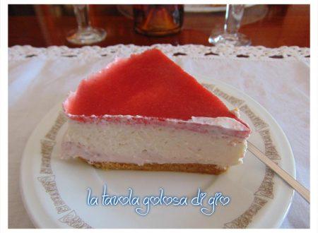 Torta fredda con crema di fragole