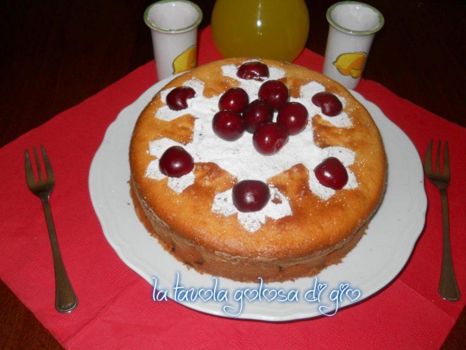 Torta Paradiso con Ciliegie e Yogurt