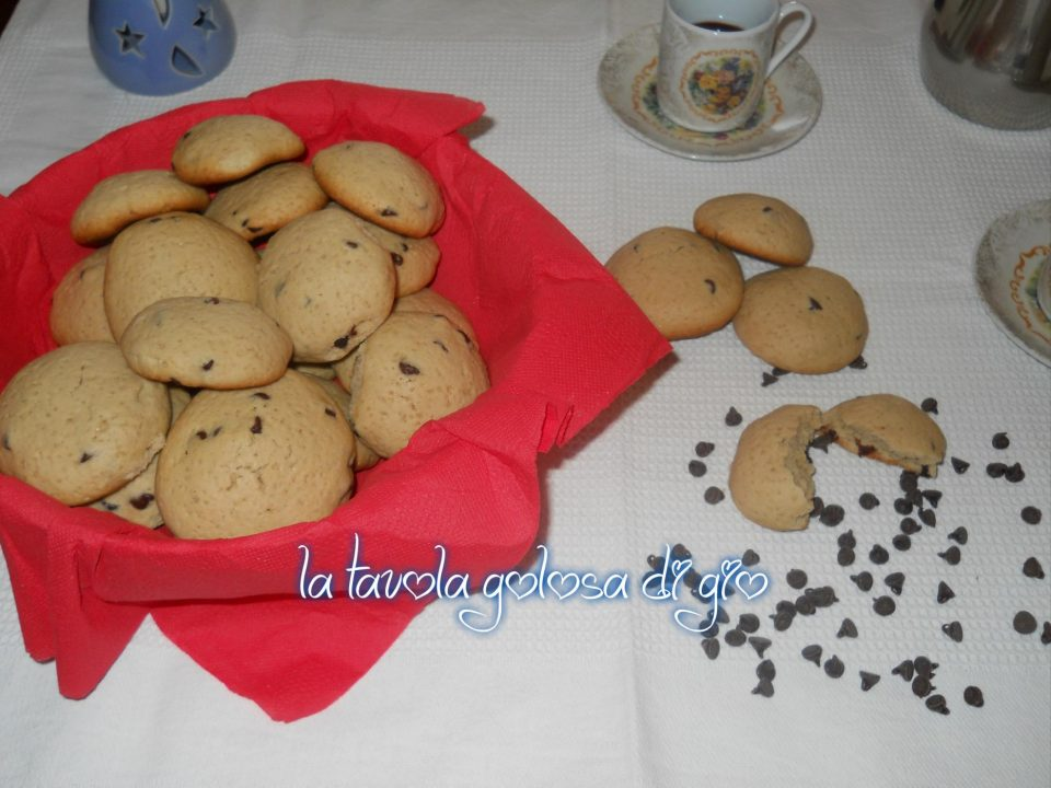 Biscotti al Caffè Espresso e Gocce di Cioccolato