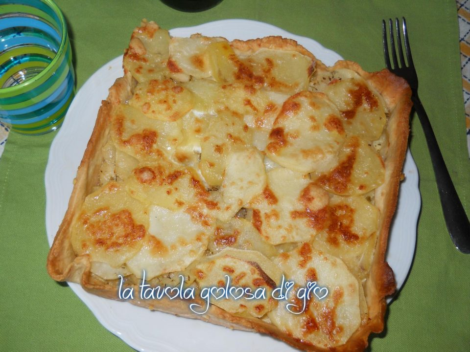 Crostata di patate soffice e croccante