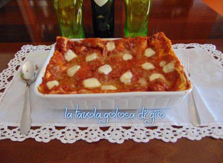 Lasagne napoletane senza besciamella