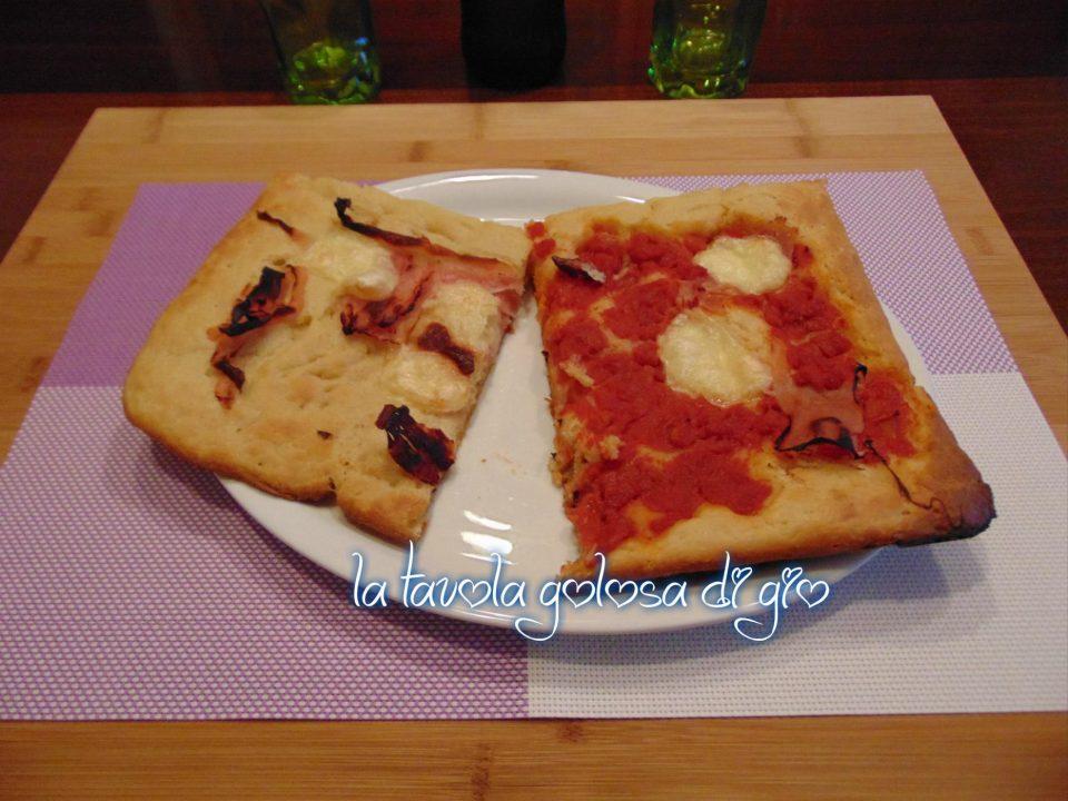 Pizza al taglio in pastella morbida
