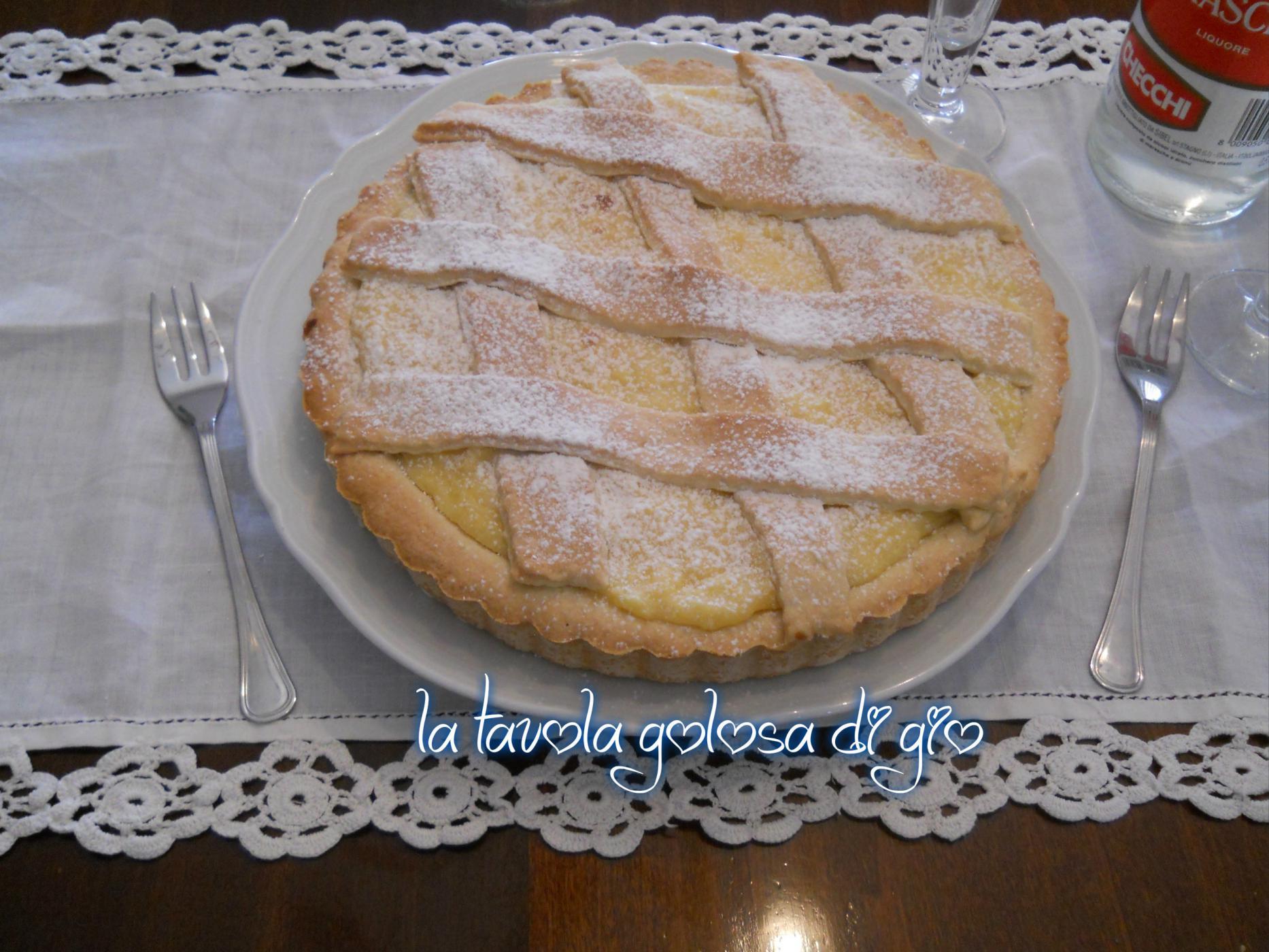 Crostata soffice con crema pasticcera | La tavola golosa di Giò