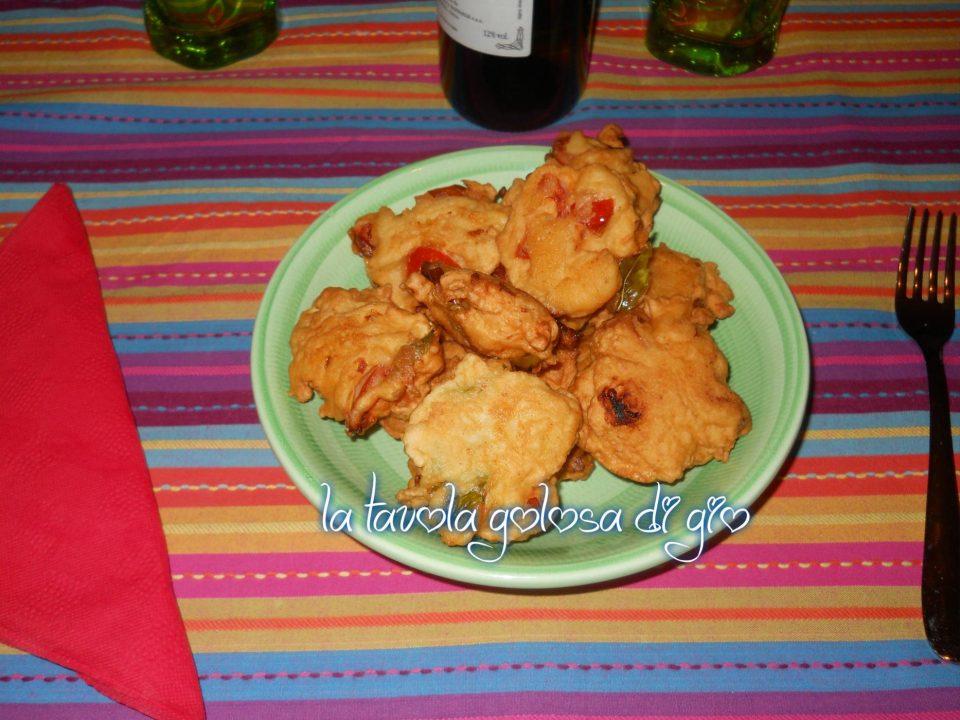 Frittelle con Ricotta e Pomodorini