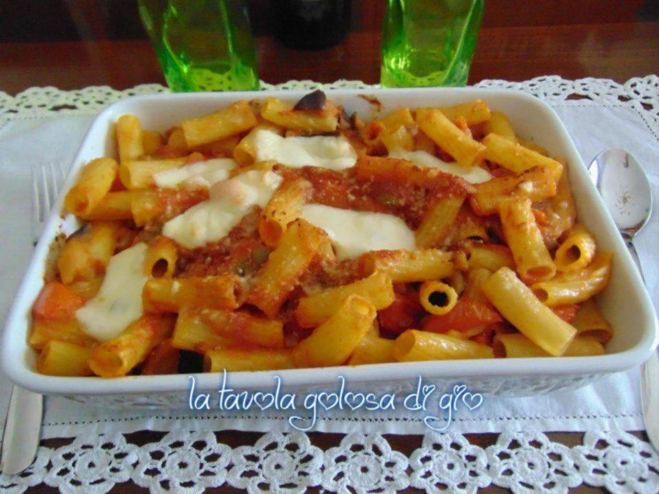 Pasta al Forno Siciliana con Piselli