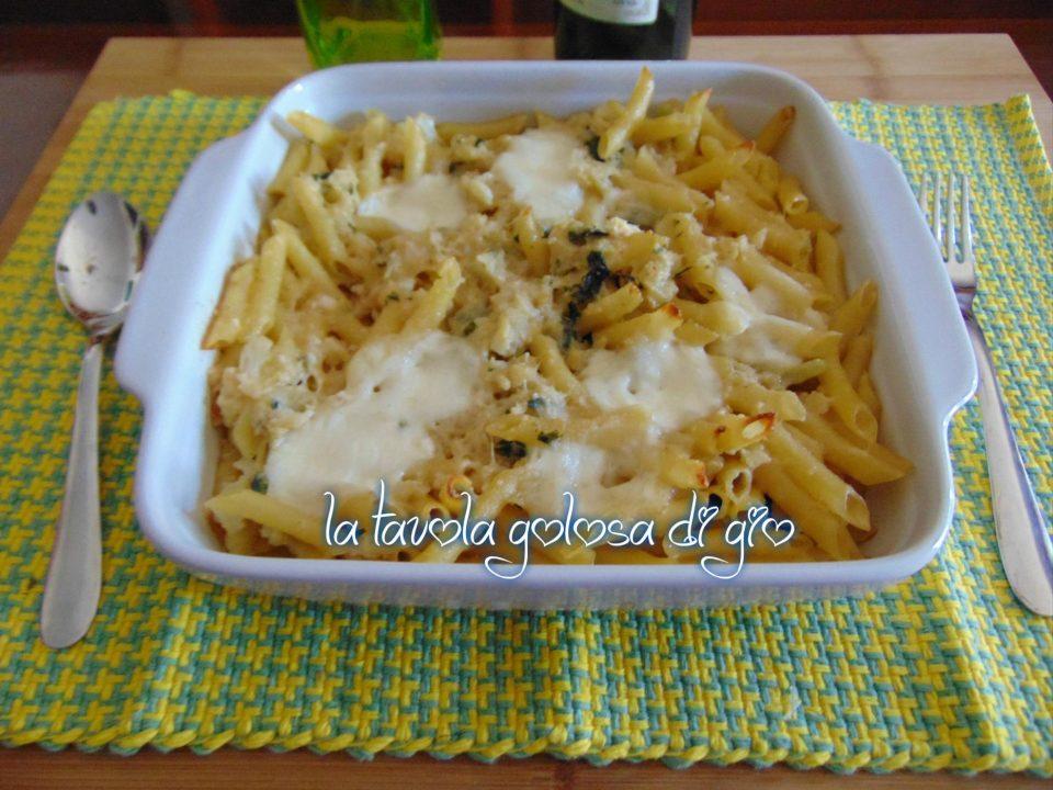 Pasta con Cavolo e Mozzarella al Forno