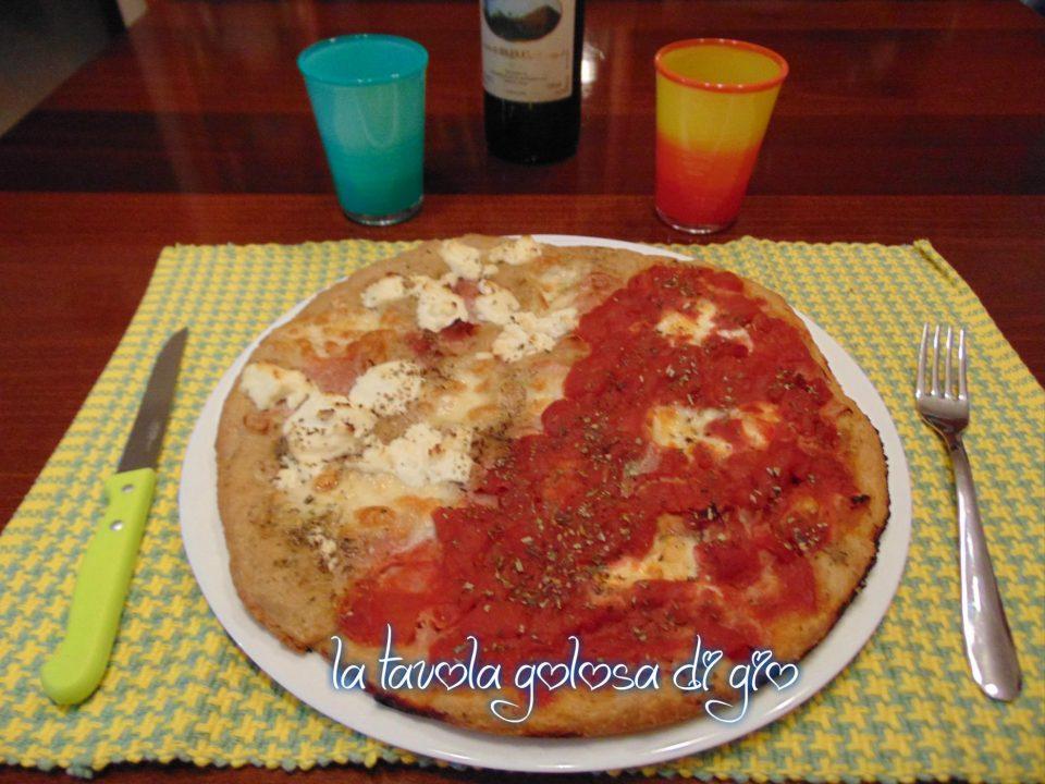 Pizza integrale in pastella