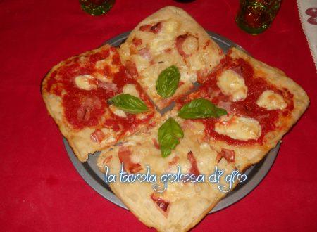 Pizza senza impasto soffice e veloce