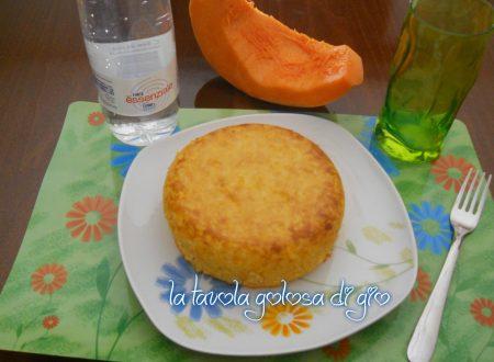 Sformato di riso e zucca con formaggio