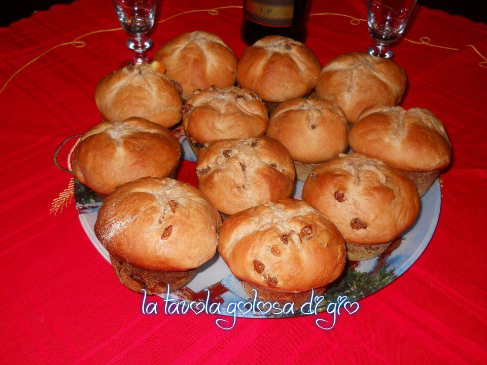 Panettoni mini con uvetta e arancia