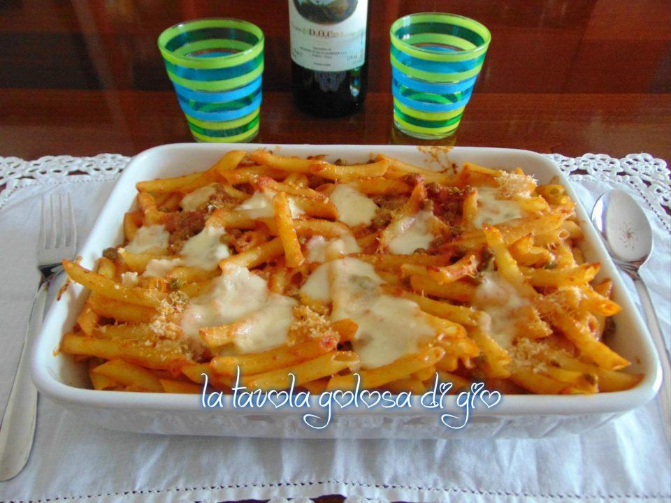 Pasta al Forno con Pomodorini e Piselli