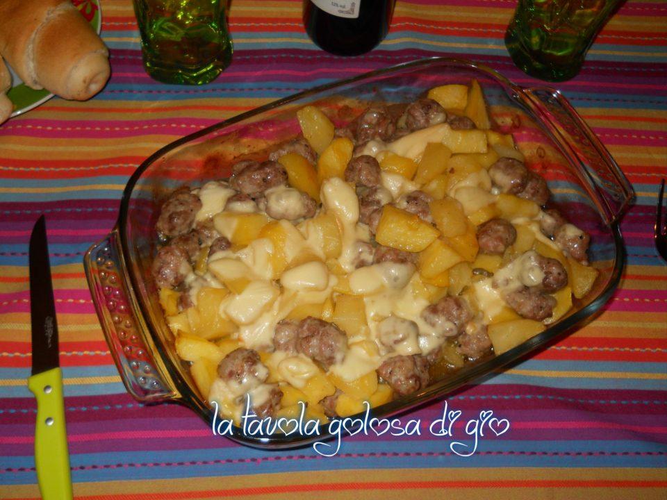 Polpettine al forno di salsicce e patate