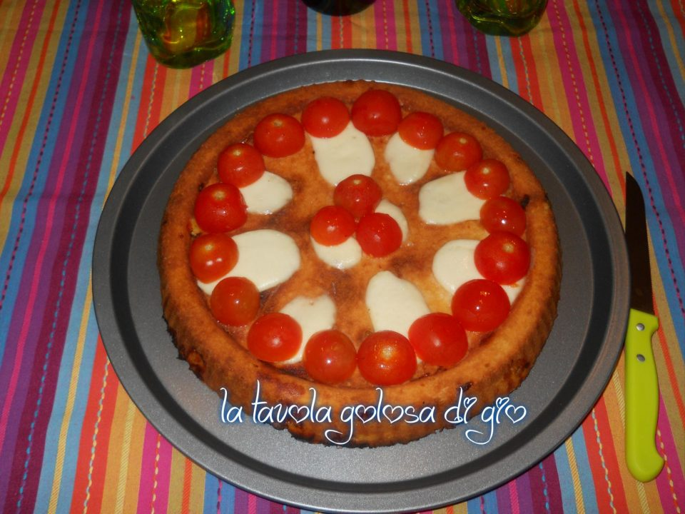 Torta Caprese con Pomodorini