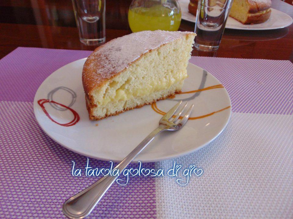 Torta con Yogurt e Crema Pasticcera