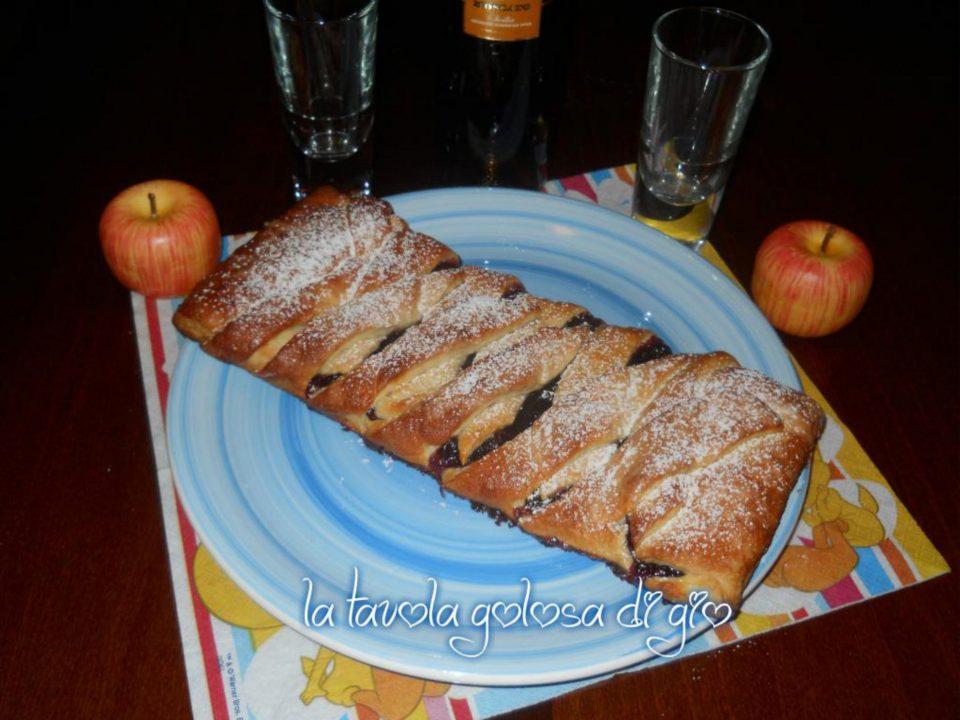 Treccia morbida danese con marmellata