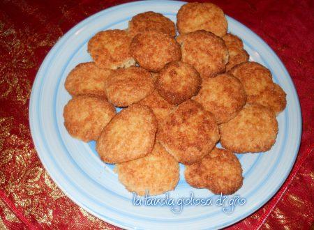 Biscotti morbidi al cocco profumati