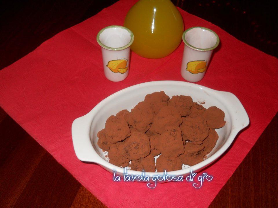 Bocconcini al cioccolato e arancia