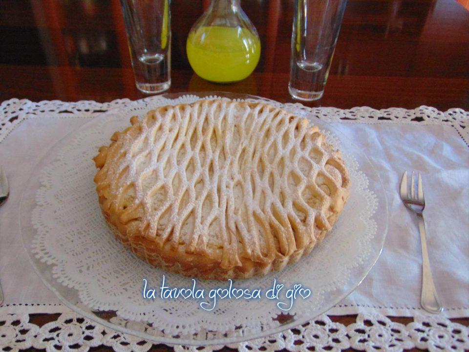 Crostata senza burro con panna