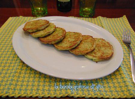 Frittelle di zucchine cotte in forno