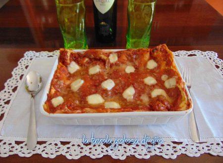 Pasticcio di lasagne napoletano con ricotta