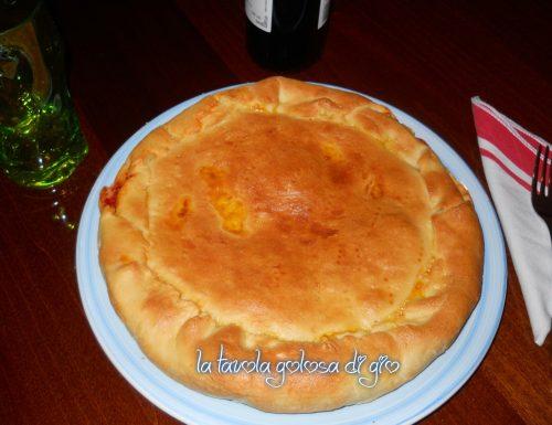 Pizza rustica ricotta e prosciutto
