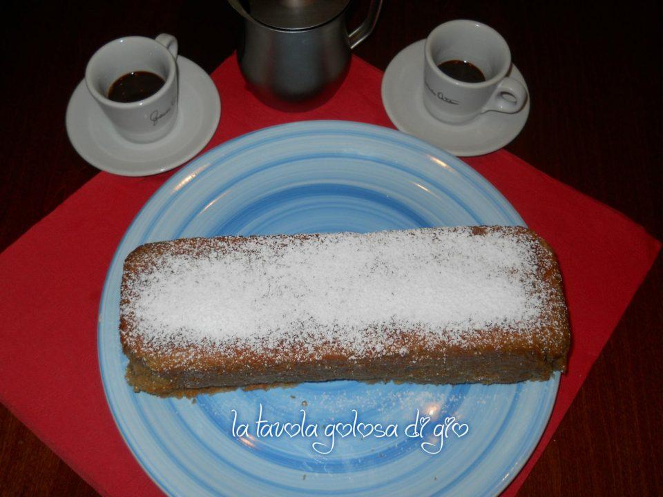Plumcake soffice di panna e caffè
