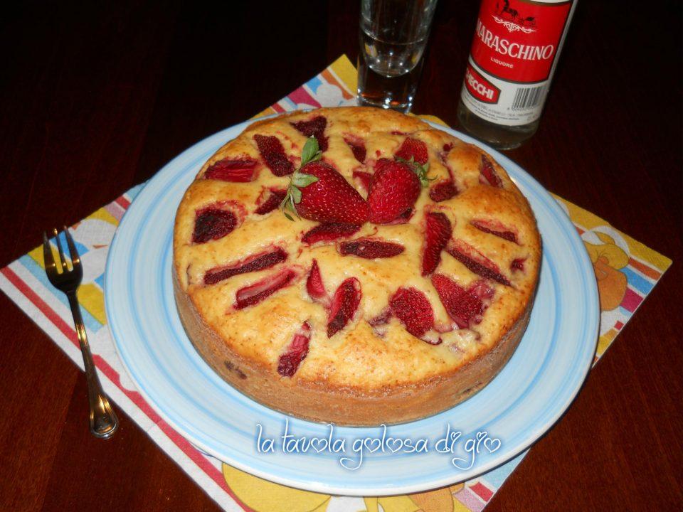 Torta fragole e ricotta senza burro
